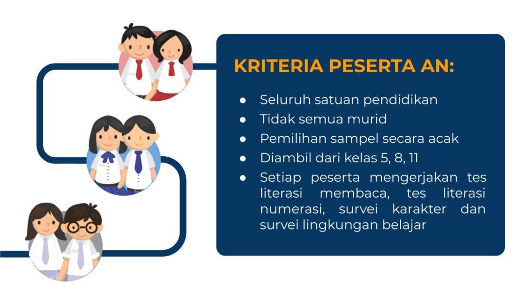 Kriteria peserta asesmen nasional